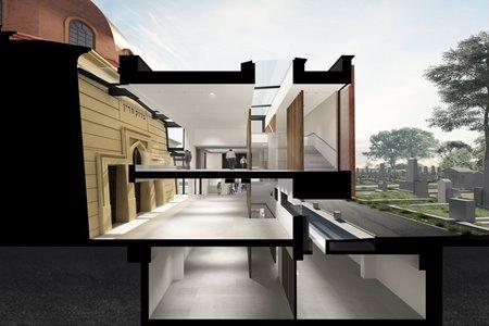 Рамочная концепция музейного проекта. Пространство, экспозиции и направления потоков.